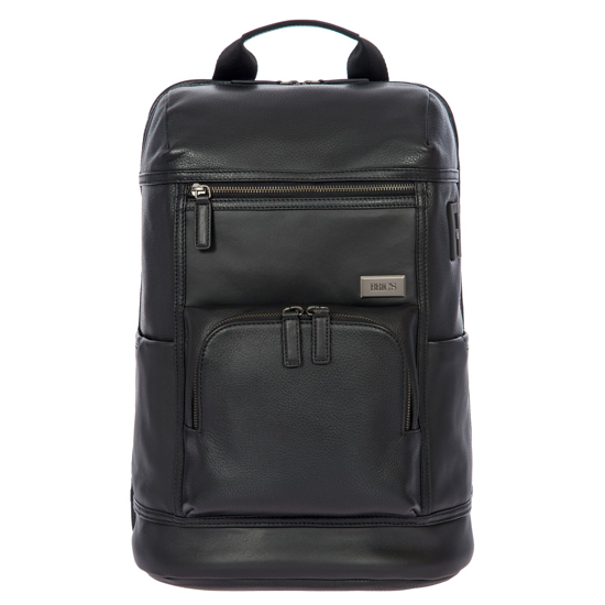 Bric's leather laptop backpack Torino black  BR107703.001