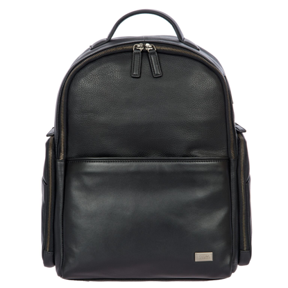 Bric's leather laptop backpack Torino black BR107702.001