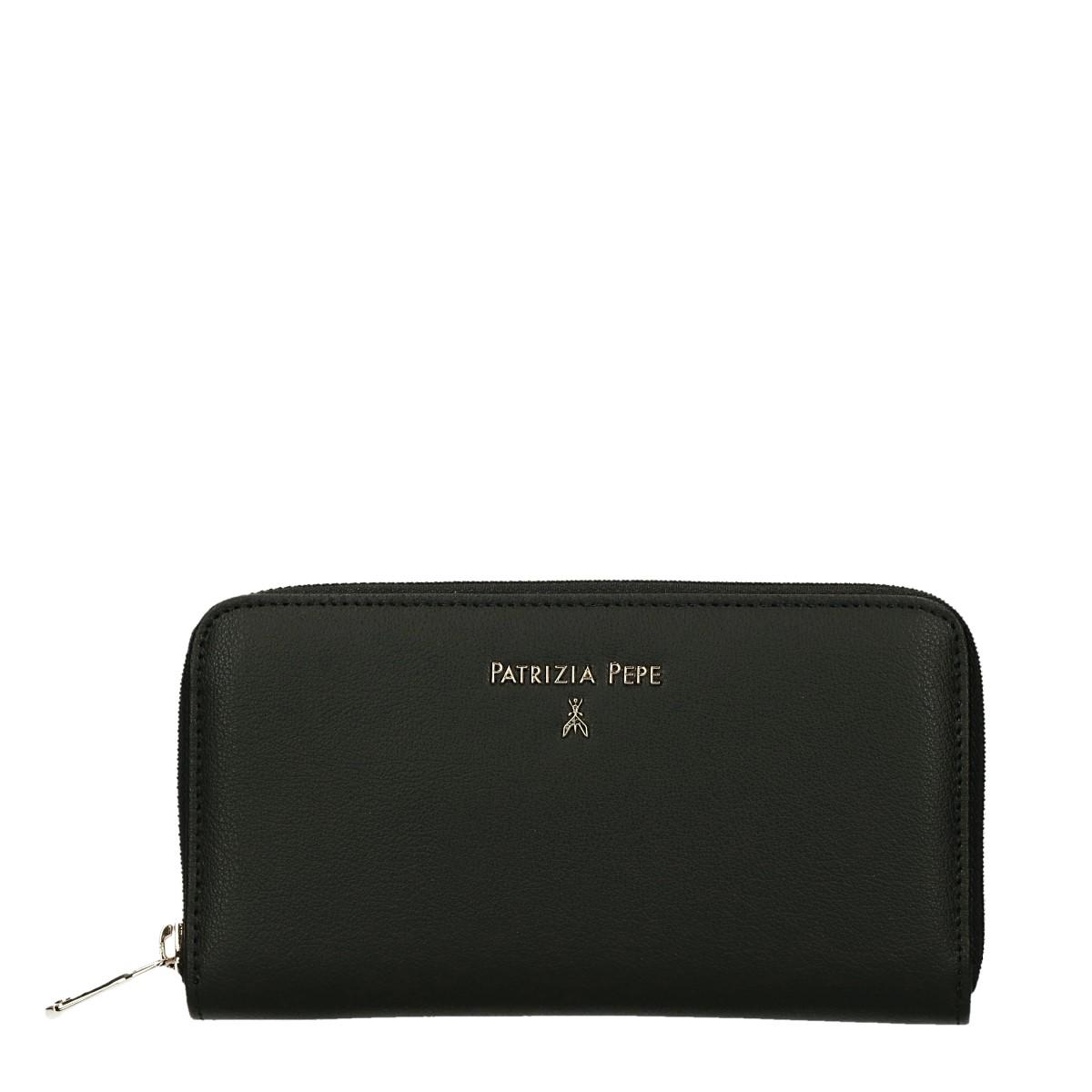 Patrizia Pepe portafoglio donna con cerniera pelle Nero