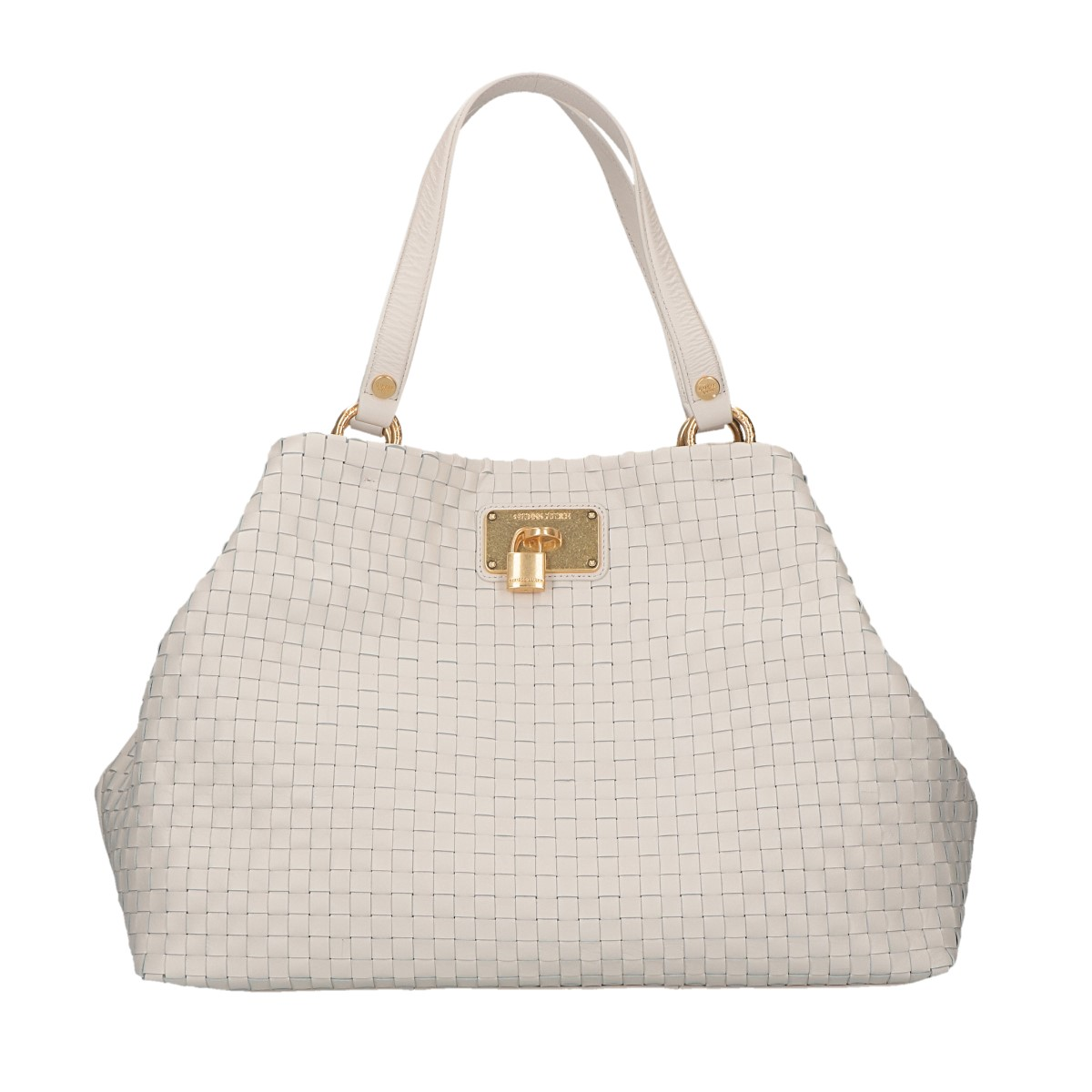 Guess Handbag M Luxe braided leather Beige IVO
