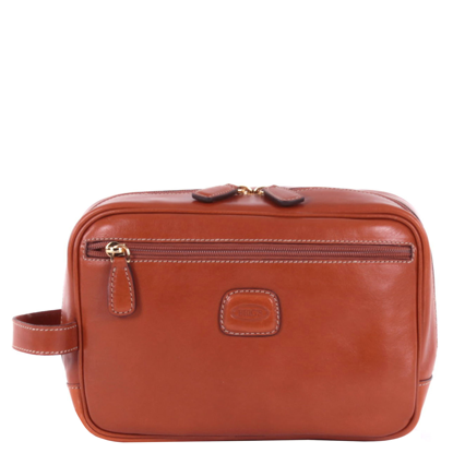 Bric's leather toiletry bag Life brown BPL00601.098