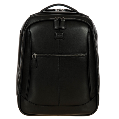 Bric's leather backpack Varese black BRH04649.001