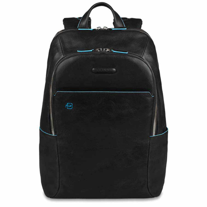 Picture of Blue Square Backpack with padded pc compartment Nero