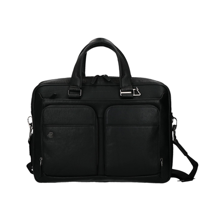 borsa porta pc black square piquadro, cartella piquadro