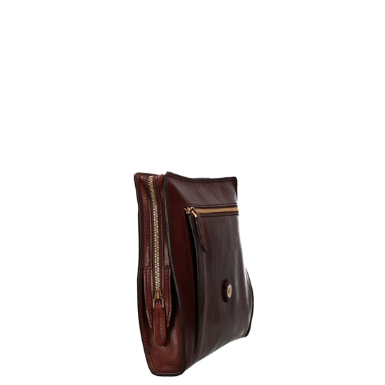 Picture of leather briefcase Story document holder brown