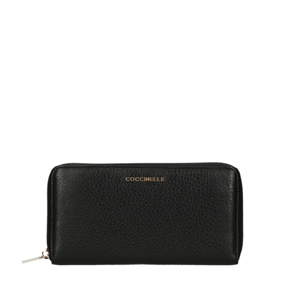Picture of Metallic Soft wallet zip around Noir