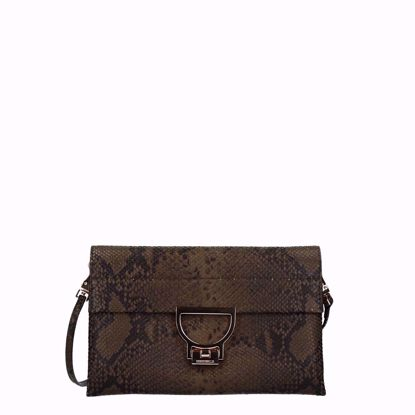 Coccinelle cluth bag Arlettis Python Evergreen E1E21190201G06