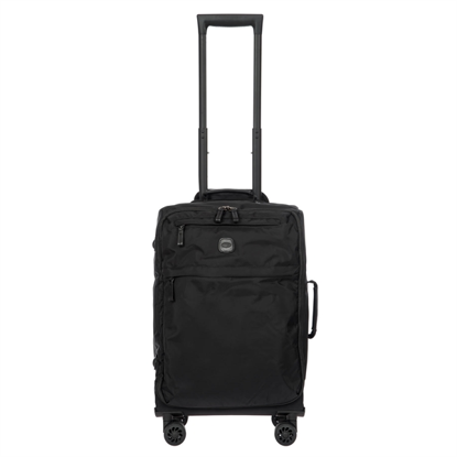 bric's cabin luggage x-travel all black front
