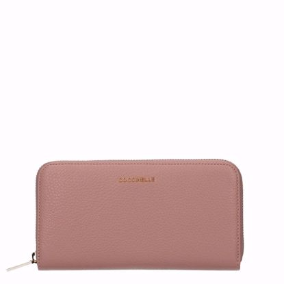 Picture of Metallic Soft wallet zip around Pivoine