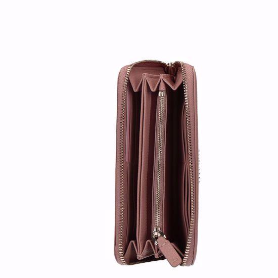 Picture of Metallic Soft wallet zip around Pivoine