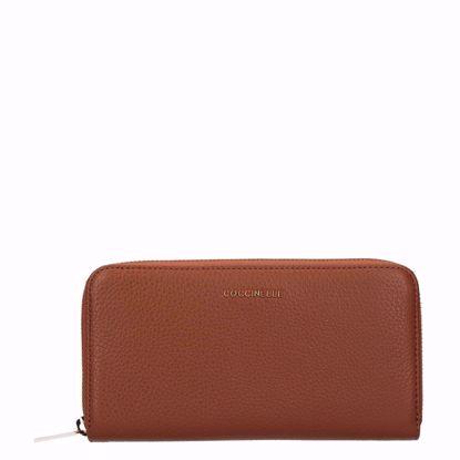 Metallic Soft portafoglio con zip Caramel