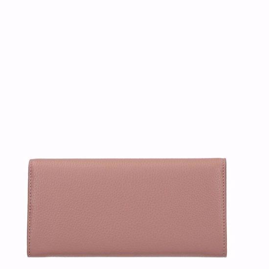 Metallic Soft portafoglio con patella Pivoine