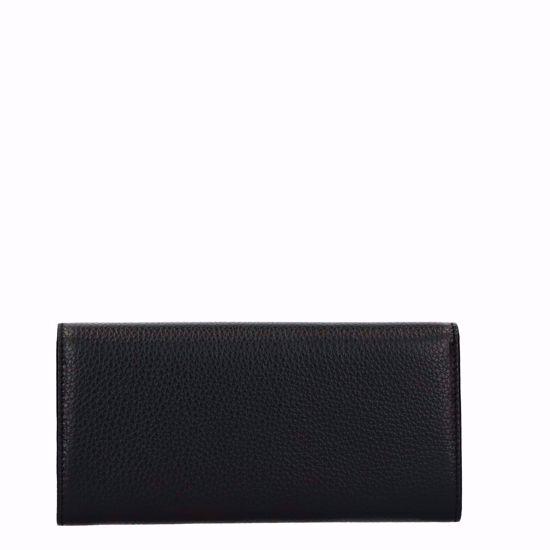 Metallic Soft portafoglio con patella Noir