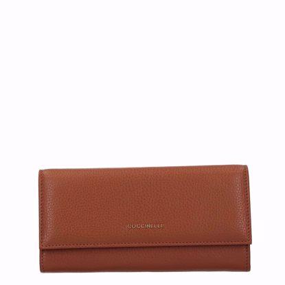 Metallic Soft portafoglio con patella Caramel