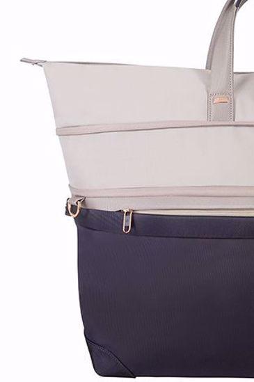 duffle bag 55cm Uplite expandable Pearl/Blue