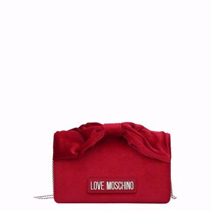 Love Moschino borsa velvet rosso