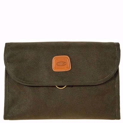 Bric's toiletry bag Life tri-fold olive BLF00676.378