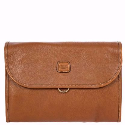 Bric's toiletry leather bag Life tri-fold brown BPL00676.098