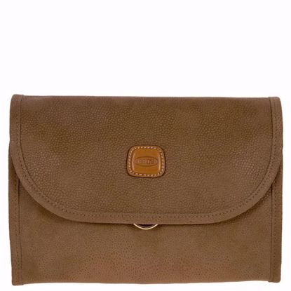 Bric's toiletry bag Life tri-fold small camel BLF00674.216