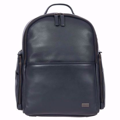 Bric's leather laptop backpack Torino navy BR107702.051