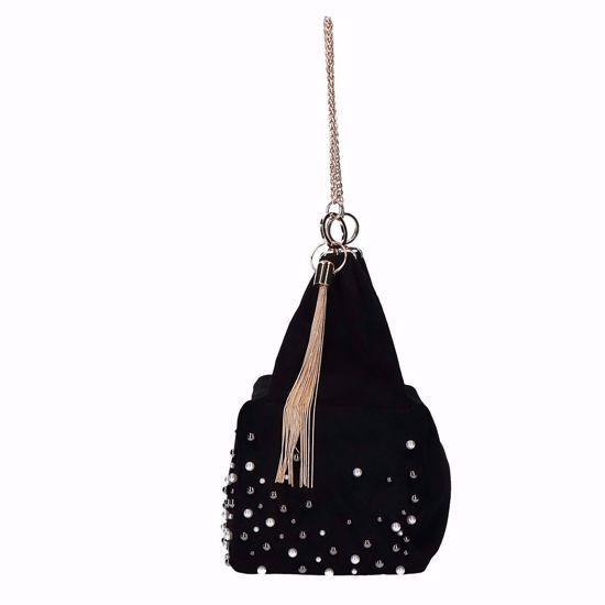 Liu Jo borsa a sacca Creativa perle nero