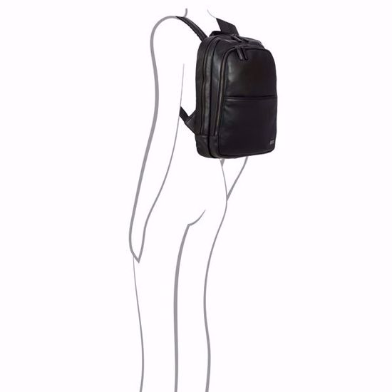 Bric's leather laptop backpack Torino City black BR107714.001