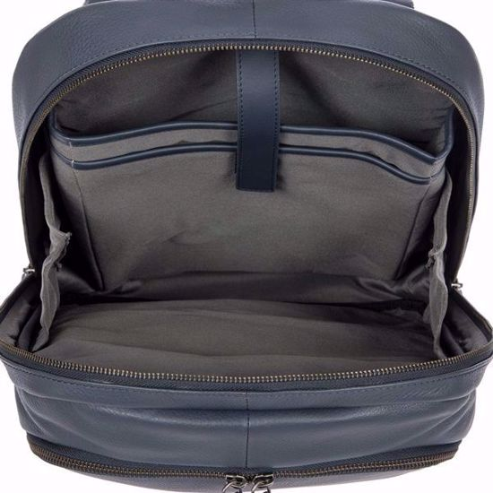 Bric's leather laptop backpack Torino City navy blue BR107714.051