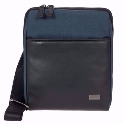 Bric's shoulder bag for men L Monza navy blue BR207709.511