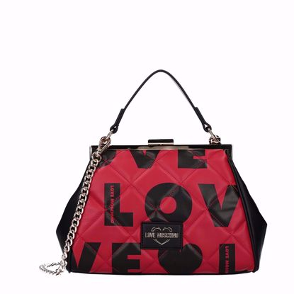 Love Moschino borsa a mano Matt mix rosso