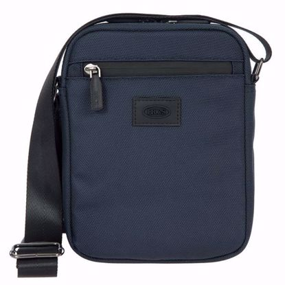 Bric's shoulder bag for men small Pisa blue BIG05382.006