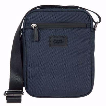 Bric's shoulder bag for men small Pisa blue BIG05382.006