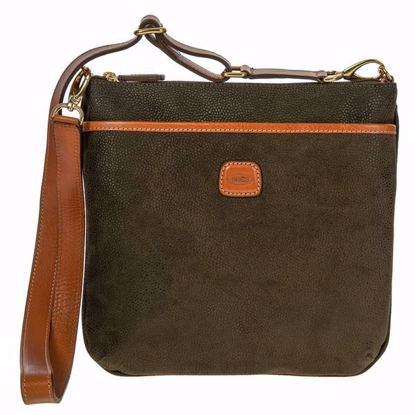 Bric's shoulder bag for men large Life olive BLF02733.378