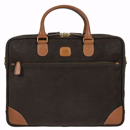 Bric's laptop briefcase Life olive BLF15130.378
