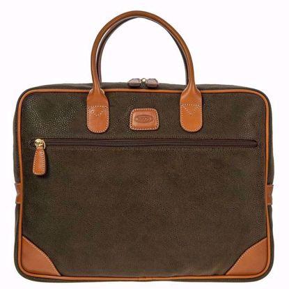 Bric's laptop briefcase lamedium rge Life olive BLF15133.378