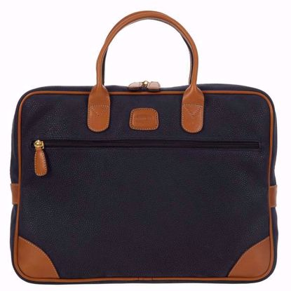 Bric's laptop briefcase medium Life blue BLF15133.396