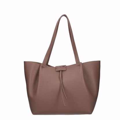 Patrizia Pepe  borsa shopping Pepe City M real taupe