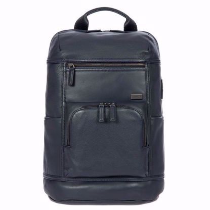 Bric's leather laptop backpack Torino navy blue BR107703.051