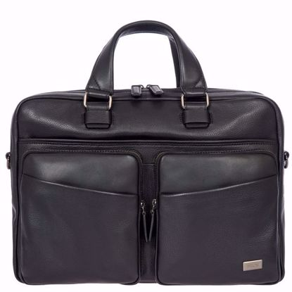 Bric's leather briefcase for laptop Torino black BR107704.001