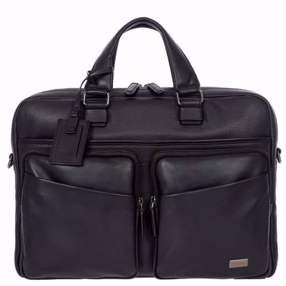 Bric's leather briefcase for laptop Torino medium black BR107705.001
