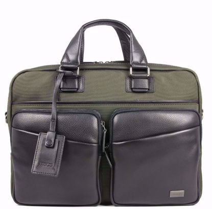 Bric's briefcase for laptop Monza olive BR207705.078