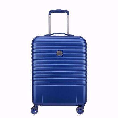 Delsey valigia cabina Caumartin plus 55 cm slim blu