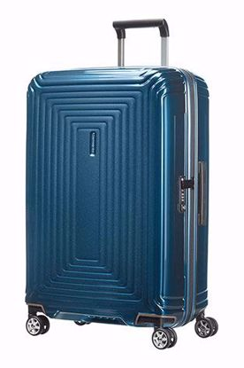 Samsonite valigia Neopulse spinner 69 cm metallic blue , Samsonite luggage Neopulse spinner 69 cm metallic blue