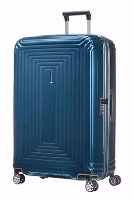 Samsonite valigia Neopulse spinner 75cm metallic blue , Samsonite luggage Neopulse spinner 75 cm metallic blue