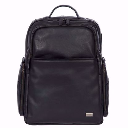 Bric's leather laptop backpack Torino L navy black BR107701.001