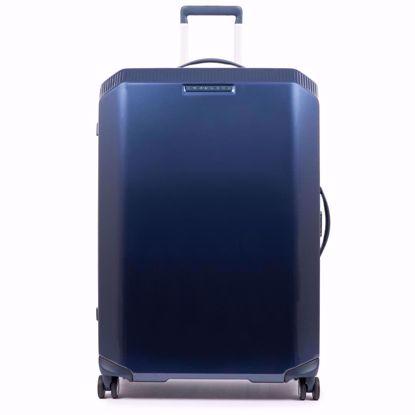 Piquadro trolley grande 4 ruote Piq3 blu