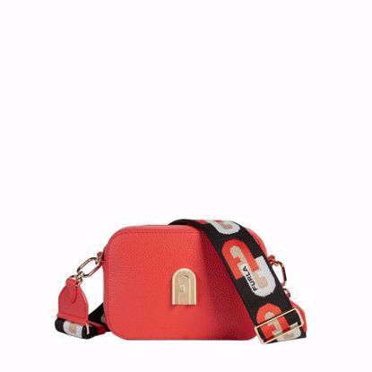 Furla borsa Sleek mini a bandoliera fuoco