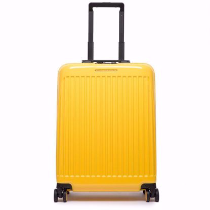 Piquadro trolley cabina ultra slim Seeker giallo