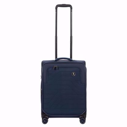 Bric's cabin luggage Itaca 55cm expandable blue B2Y08361.050