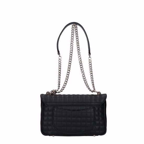 Guess borsa a tracolla Matrix trapuntato nero, Guess crossbody bag Matrix quilted black