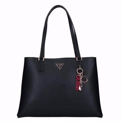 Guess borsa shopping Becca black, Guess shopping bag Becca black